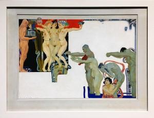 Максимилан Клевер - Желание (влечение), 1919 (гуашь)