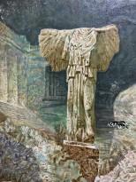 Максим Моргунов — Осколки Атлантиды, 2007 (холст, акрил) фрагмент 2