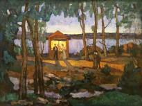 В. П. Белкин - Белая ночь, 1905 (холст, масло)