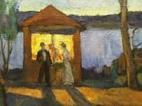 В. П. Белкин - Белая ночь, 1905 (холст, масло) фрагмент