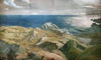 Л. С. Бакст - Классический пейзаж, 1907 (бумага, смешанная техника)