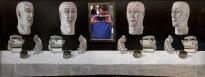 Вадим Рохлин - Зеркала, 1968 (холст на доске, масло, зеркало, латунь)