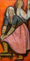 Джемма Скумле - Песни нынче день великой. Правая часть триптиха, 1965 (ДСП, темпера, лак)