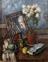 Лев Крамаренко - Натюрморт с зеркалом, 1937 (холст, масло)