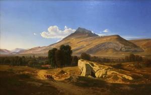Жан Ашар - Вид Сен-Эгреве, 1844 (холст, масло).