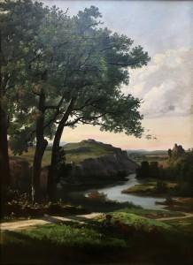 Теодор Равана - Пейзаж, 1860 (холст, масло).