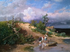 Александр Киселев - На берегу реки, 1879 (холст, масло)