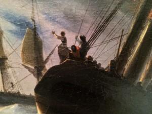 Иван Айвазовский - Гибралтар ночью, 1844 (холст, масло) фрагмент