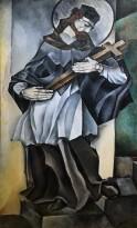 Натан Альтман - Католический святой, 1913 (холст, масло)