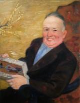 Натан Альтман - Портрет Ильи Палеева, 1960 (картон, масло)