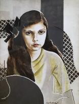 Натан Альтман - Портрет Сильвии Гринберг, 1923 (холст, масло, асфальт)