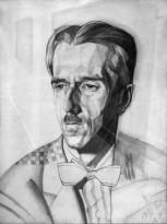 Юрий Анненков - Мужской портрет (Поэт Владимир Пяст), 1920 (бумага, графитный карандаш)