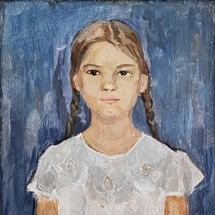 Сергей Романович — Портрет дочери, 1943 (холст, масло)
