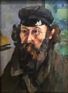 Поль Сезанн - Автопортрет в каскетке, ок. 1873 г. (холст, масло - гос. Эрмитаж, колл. И. А. Морозова)