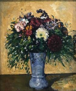 Поль Сезанн - Букет цветов в вазе. ок. 1877 г. (холст, масло - гос. Эрмитаж, колл. С. И. Щукина)