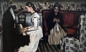 Поль Сезанн - Девушка у пианино (Увертюра к 'Тангейзеру'), ок. 1869 г. (холст, масло - гос. Эрмитаж, колл. И. А. Морозова)