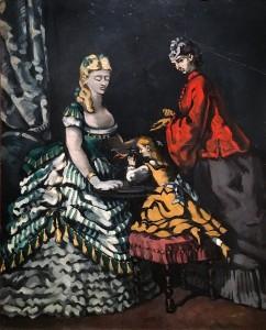 Поль Сезанн - Сцена в интерьере (Сцена в комнатах), 1869-71 (холст, масло - Пушкинский музей МСК)