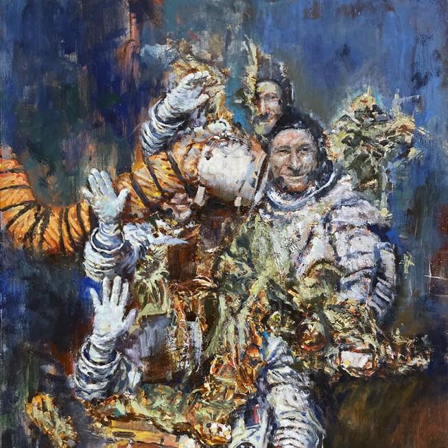 Роман Казус — Мертвая звезда, 2019 (холст, акрил, масло)