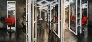 Александра Кокачева - Салон красоты, триптих, 2017