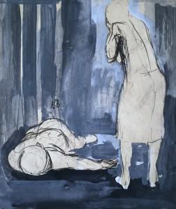 Александр Арефьев - Две фигуры, 1948