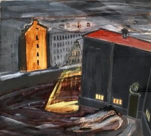 Александр Арефьев - Ночной пейзаж, 1955