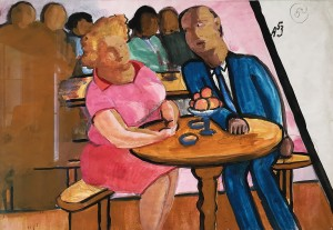 Александр Арефьев - Сцена в кафе, 1953