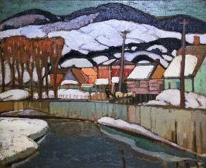 Альберт Генри Робинсон - Зима, Баи-Сент-Поль, 1923