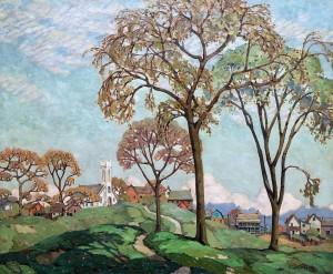 Альфред Жозеф Кассон - Весеннее солнце, 1923