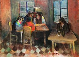 Арон Дейец - Сцена в ресторане, ок. 1930