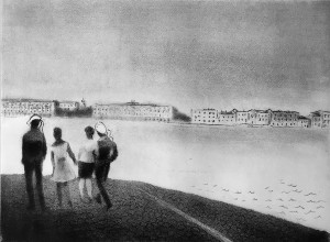 Валентин Громов - Белая ночь, 1975 Офорт.