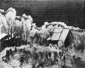 Валентин Громов - Каток, 1972 Офорт.