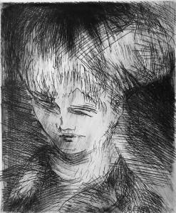Валентин Громов - Портрет, 1999 Офорт.