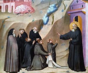 Джованни дел Биондо - видение св.Бенедикта ок.1356 (Торонто)