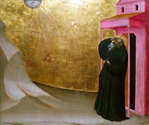 Джованни дел Биондо - видение св.Бенуа ок.1356 (Торонто)
