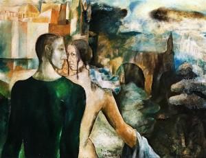 Дитер Вайденбах - Влюбленная пара в Праге, 1966 (холст, масло, 62х81