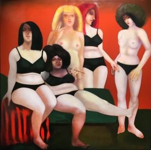 Дитер Вайденбах - Дамы из Вайсенфельса, 1975 (холст, масло, 130х1230 см)