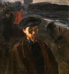 Кузьма Петров-Водкин - Автопортрет в берете, 1903