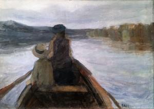 Кузьма Петров-Водкин - Двое в лодке, 1896