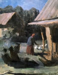 Кузьма Петров-Водкин - Ночью на дворе, 1900