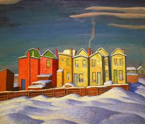 Лорен Харрис -Ряд шести домов, Городская живопись III, 1924
