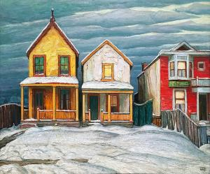 Лорен Харрис - Дома, зимняя городская живопись V, 1920