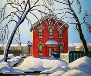 Лорен Харрис - Красный дом, зима, ок. 1925