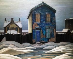 Лорен Харрис - Серый день в городе, 1923