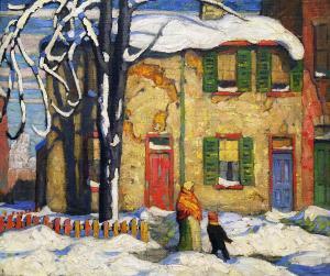 Лорен Харрис -  Старый дом в Торонто, зима, 1919