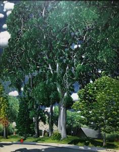Марк Аурель Фортен - Деревья на обочине, 1926