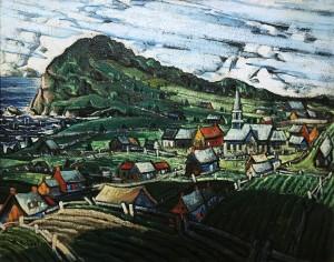 Марк Аурель Фортен - Пейзаж в Гаспе (Анс-ау-Гасконь), 1941-45
