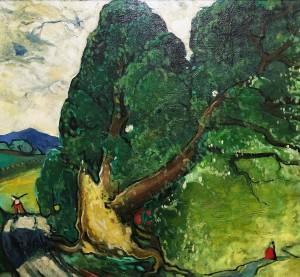 Марк Аурель Фортен - Поваленное дерево, 1950