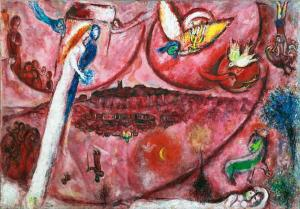 Марк Шагал - Песнь песней III, 1960