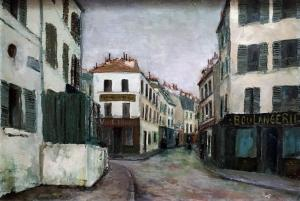 Морис Утрилло - Улица Норвен, ок. 1909
