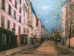 Морис Утрилло -  Улица Маркаде в Париже, 1911
